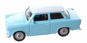 Trabant blauw - Welly 1:64