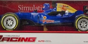 Racing auto Formule 1 Blauw (1:14 Jia Yue)