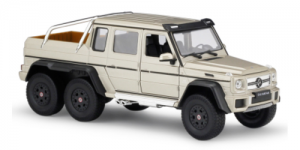 Mercedes-Benz G63 AMG 6X6 (Zilver) 1:24 Welly