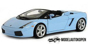 Lamborghini Gallardo Spyder (Blauw) - Bburago 1:18