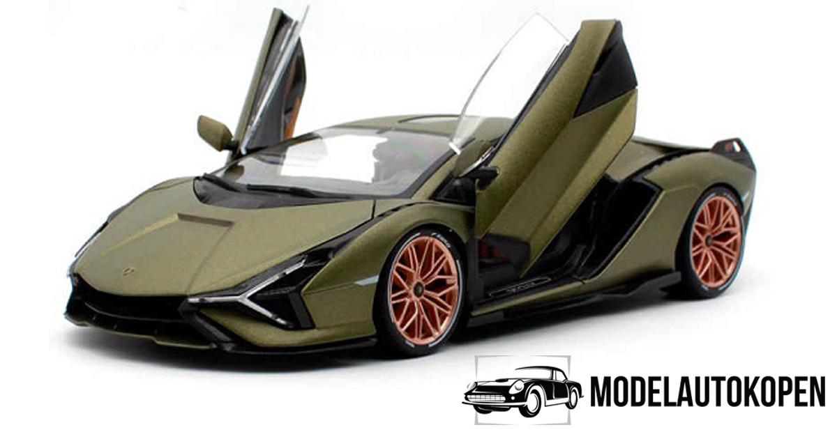 Lamborghini Sián FKP 37 (Legergroen) 1:18 Bburago