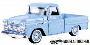 Chevy Apache Fleetside Pickup (Blauw) 1:24 Motor Max