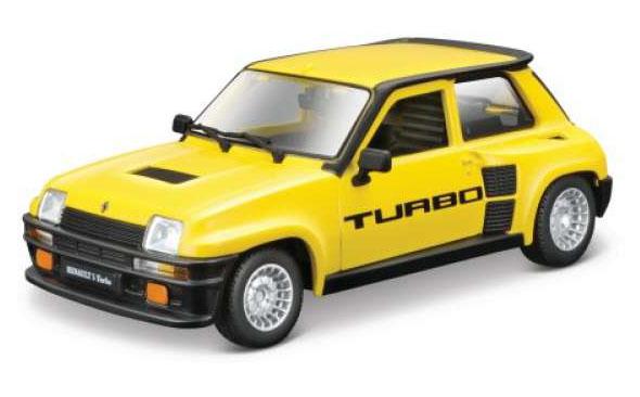 Renault 5 Turbo (Geel) - Bburago 1:24