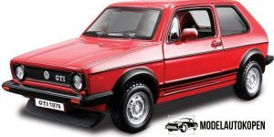 Volkswagen Golf Mk1 GTI (Rood) - Bburago 1:24
