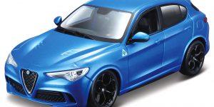 Alfa Romeo Stelvio (blauw) 1:24 Bburago