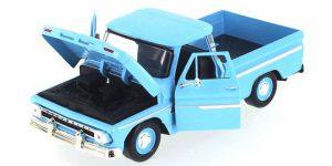 Chevy Apache Fleetside Pickup (Blauw) 1:24 Motor Max