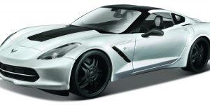 Corvette Stingray (Zilver) 1:24 Maisto Design