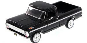 Ford F-100 Pickup (Zwart) 1:24 Motor Max