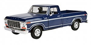 Ford F-150 Custom (Donkerblauw) 1:24 Motor Max