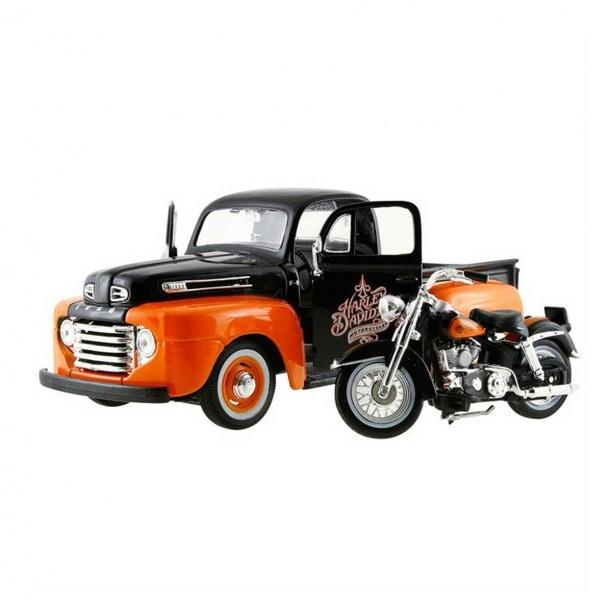 Ford F1 Pickup + Harley Duo Glide 1:24 Maisto