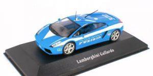 Lamborghini Gallardo Italië Politie Auto (Blauw) 1:43 Atlas