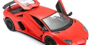 Lamborghini Aventador SV Coupé (Rood) 1:24 Bburago