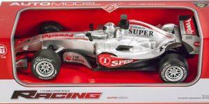 Racing auto Formule 1 Grijs (1:12 Jia Yue)