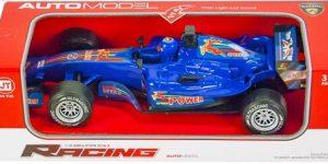 Racing auto Formule 1 Blauw (1:12 Jia Yue)