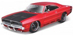 Dodge Charger R/T (Rood/Zwart) 1:24 Maisto