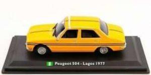 Peugeot 504 Lagos Taxi (Geel) 1:43 Atlas