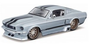 Ford Mustang GT (Grijs/Zwart) 1:24 Maisto