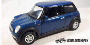 Mini Cooper (Blauw) - Welly 1:43