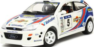 Ford Focus WRC (Wit/Blauw) 1/18 Bburago