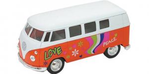 1963 Volkswagen T1 Bus (Oranje/Wit) 1/34 Welly