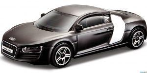 Audi R8 (Zwart) 1:64 Bburago kopen? Modelautokopen.nl