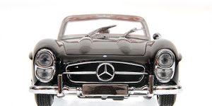 1957 Mercedes-Benz 300 SL Roadster Zwart 1/18 Bburago