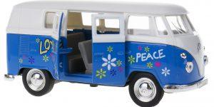 1963 Volkswagen T1 Bus (Blauw/Wit) 1/34 Welly