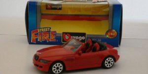 BMW M Roadster (Rood) 1/43 Street Fire Bburago