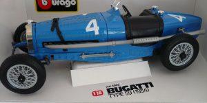 Bugatti Type 59 1934 (Blauw) 1/18 Bburago