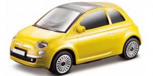 Fiat 500 (Geel) 1:43 Bburago