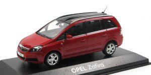 Opel Zafira Dealermodel Rood 1/43 Minichamps