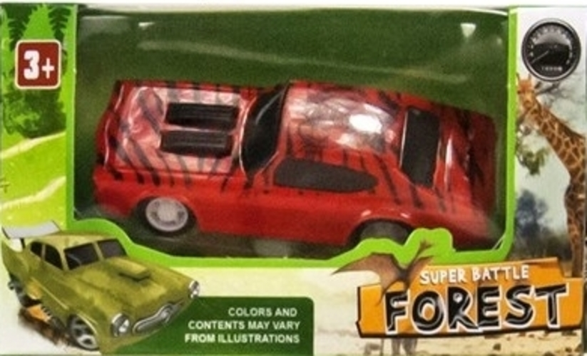 Auto Forest Pull Back (Rood) 1/64