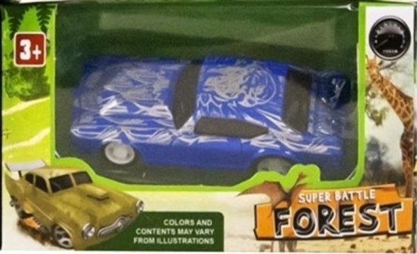 Auto Forest Pull Back (Blauw) 1/64
