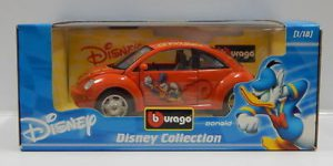 Disney Collection - Beetle Donald Duck Oranje - 1/18 Bburago