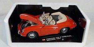 Porsche 356 B Cabriolet 1961 Rood 1/18 Tchibo