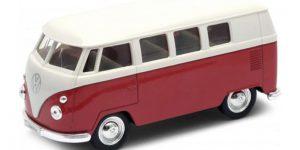 1963 Volkswagen T1 Bus (Rood) 1/34 Welly