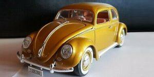 Volkswagen Kever Beetle (Goud) 1/18 Bburago Limited Edition