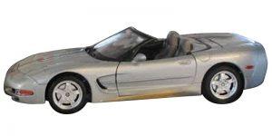 Chevrolet Corvette Cabriolet 1998 Zilver 1/18 Bburago