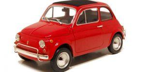 Fiat 500 F 1965 (Rood) 1/16 Bburago