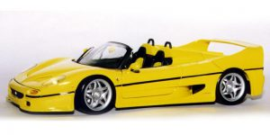 Ferrari F50 Roadster Geel Bouwpakket 1/43 Bburago