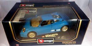 Bugatti EB 110 (1991) Blauw 1/18 Bburago