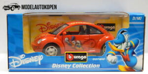 Disney Collection - Beetle Donald Duck Oranje - 1/18 Bburago
