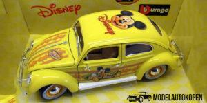 Disney Collection - Volkswagen Mickey Mouse Geel - 1/18 Bburago