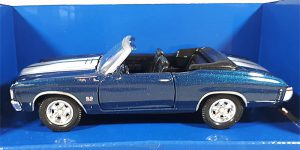 Chevrolet Chevelle SS 454 (Donkerblauw) 1/32 Welly