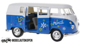 1963 Volkswagen T1 Bus (Blauw/Wit) 1/34 Welly