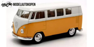 1963 Volkswagen T1 Bus (Geel/Wit) 1/34 Welly