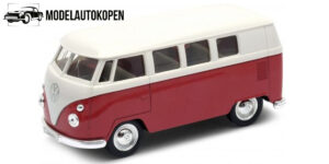 1963 Volkswagen T1 Bus (Rood) 1/34 Welly