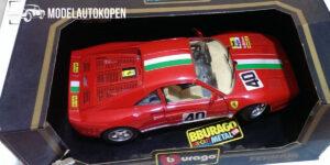 Ferrari GTO (1984) Rood met Italië streep 1/18 Bburago