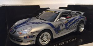 Porsche 911 GT3 Cup Zilver 1/18 Bburago
