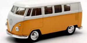 1963 Volkswagen T1 Bus (Geel/Wit) 1/34 Welly